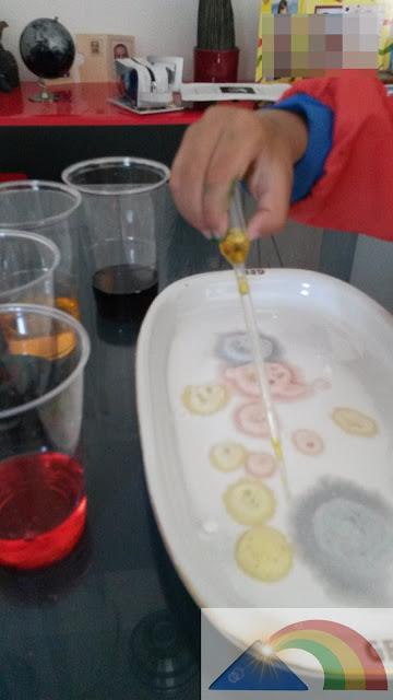 Reacción del vinagre y el bicarbonato sódico