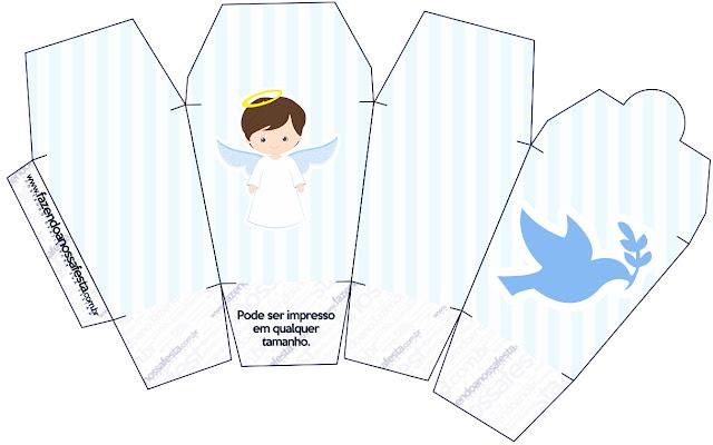 Bello Bautismo de Niño Moreno: Cajas para Imprimir Gratis. | Oh My Bebé!