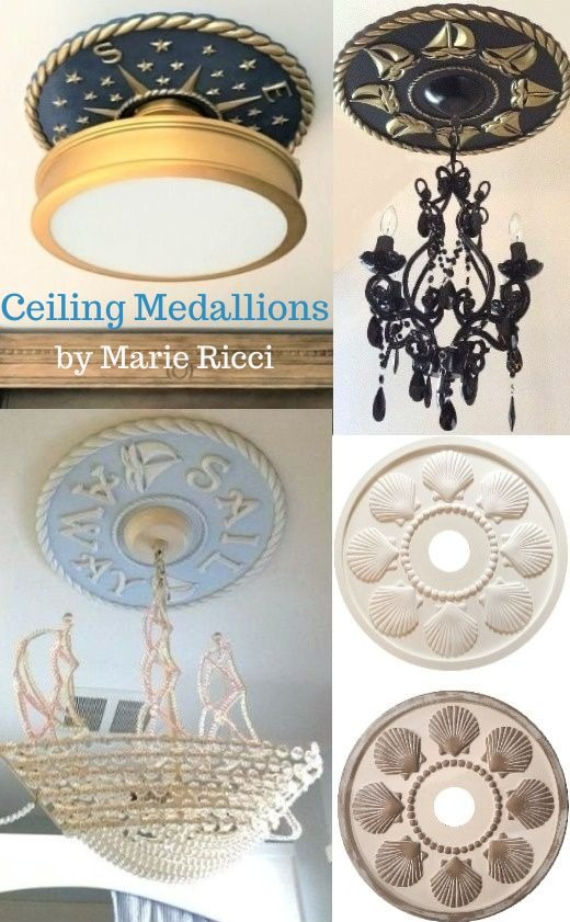 Ceiling Medallions with a Coastal and Nautical Theme
