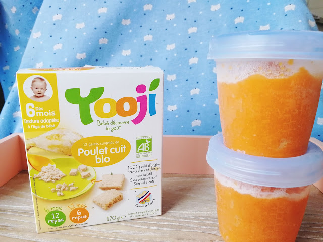 Alimentation Victor - Viande Yooji et petits pots légumes maison bio