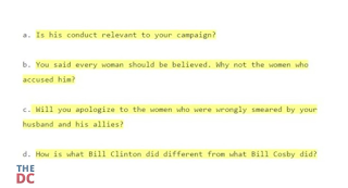 Clinton Staffers Struggle To Handle Bill's Women 'Issues'
