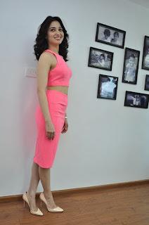 Actress Tamanna Stills in Pink Dress at Oopiri Movie Interview  0115