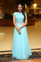 Pujita Ponnada in transparent sky blue dress at Darshakudu pre release ~  Exclusive Celebrities Galleries 018.JPG