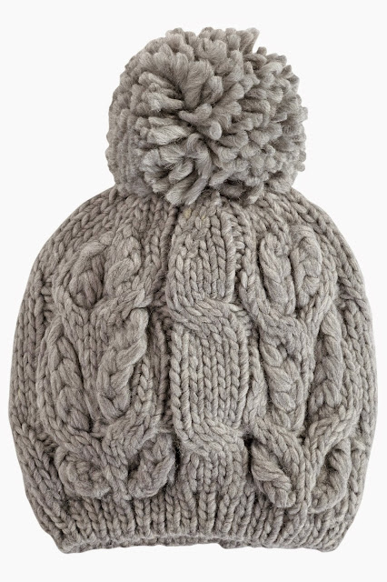 cable knit pom pom beanie, cable knit hat,