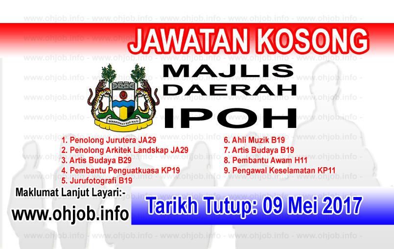 Jawatan Kerja Kosong MBI - Majlis Bandaraya Ipoh logo www.ohjob.info mei 2017