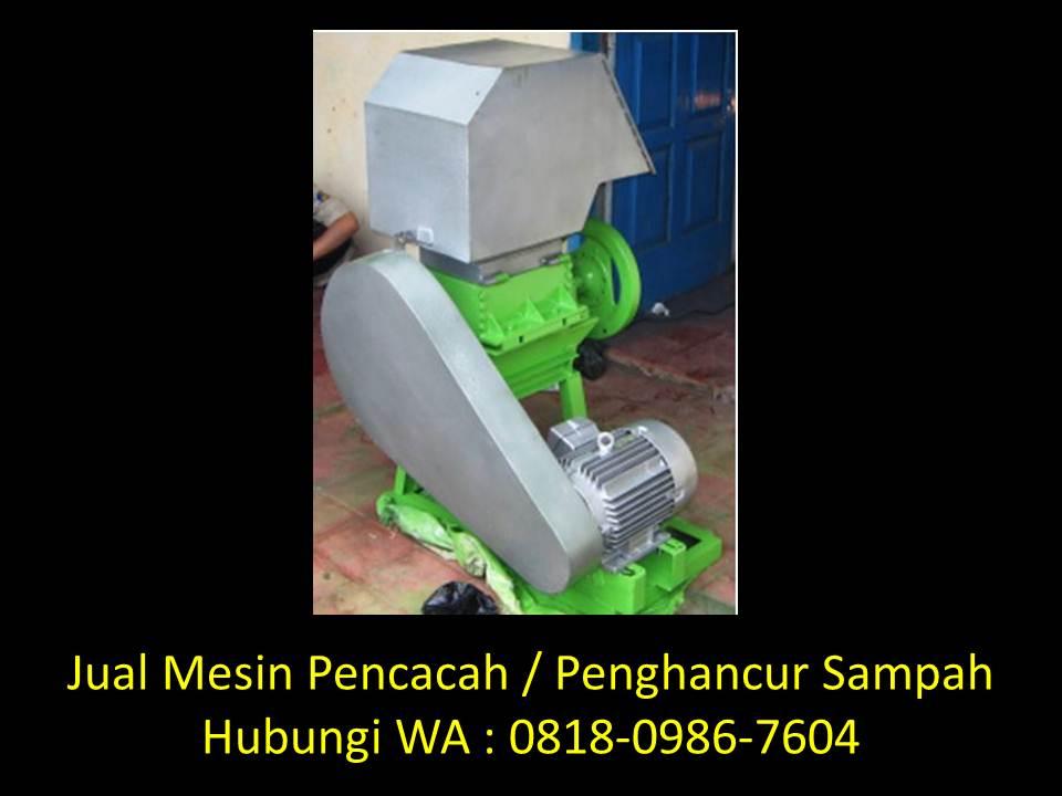 cara membuat mesin penghancur sampah di bandung