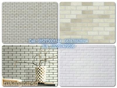 Tekstur dinding bata putih