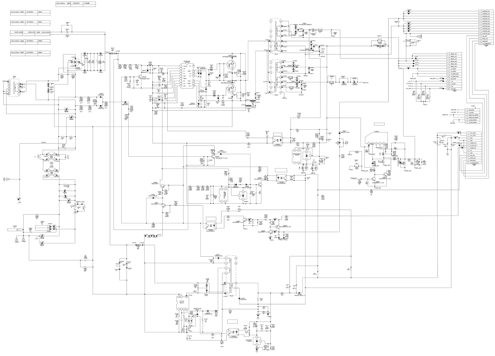 small resolution of kdl37v4000 sony lcd tv smps circuit diagram 1 876 635 12 se2ag