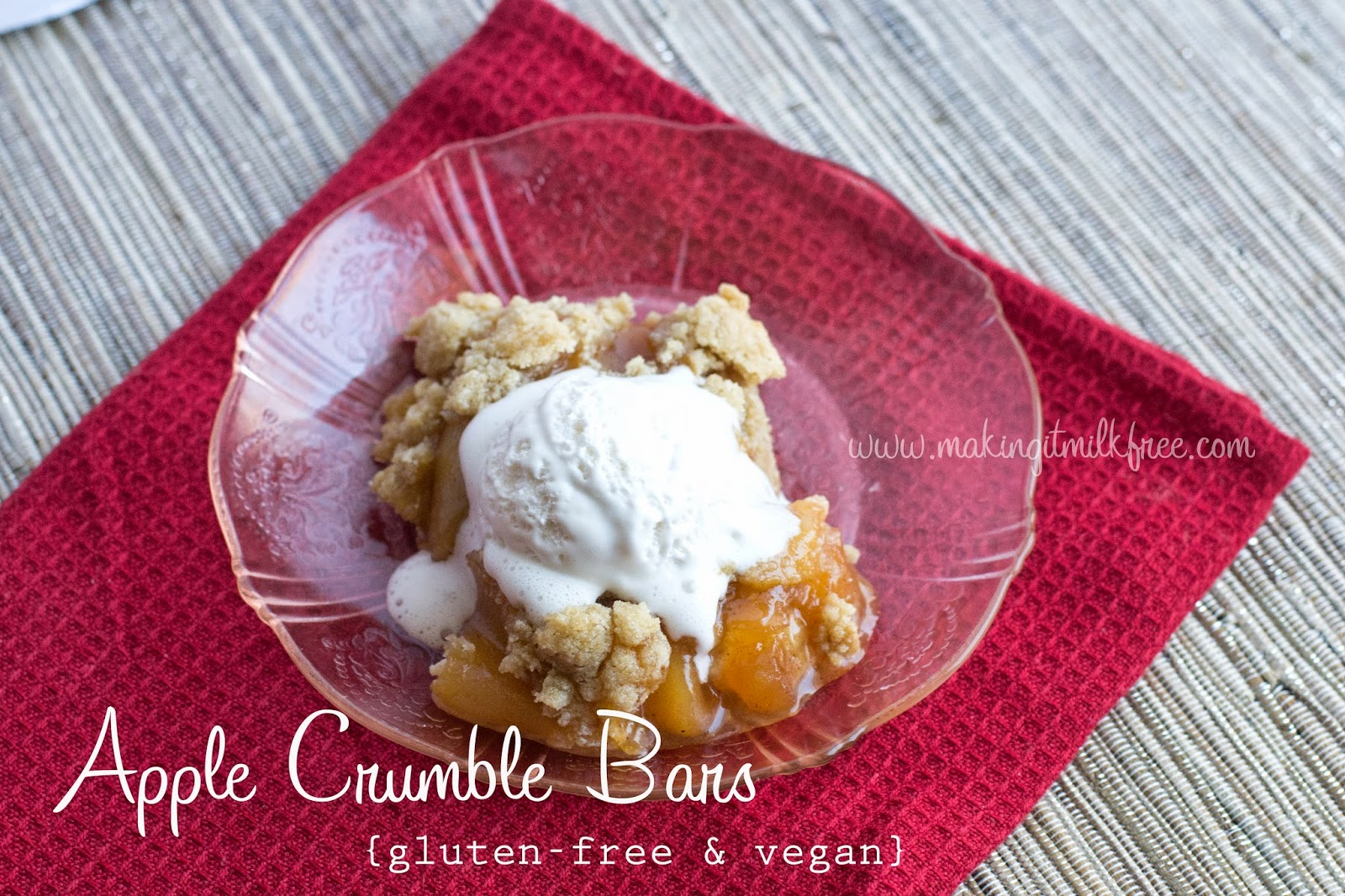 #glutenfree #vegan #applecrumble #dessert