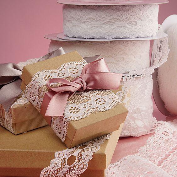 Fita de renda de nylon, opção barata e encantadora para as suas embalagens para doces.