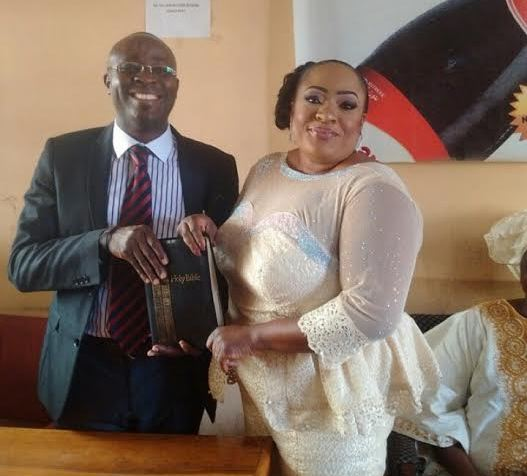 [Photos] Foluke Daramola Finally Gets Married Legally In Court!
