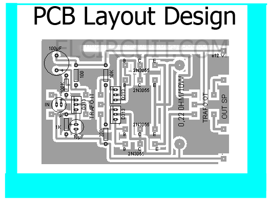 PCB Layout Design (Top View)