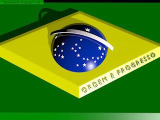 Bandeira brasileira estilizada