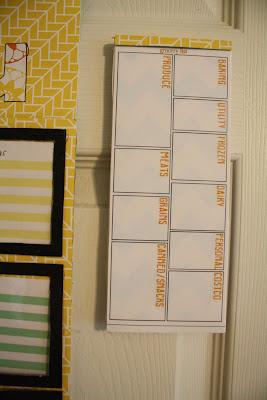DIY grocery planning organizer