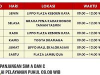 Jadwal SIM Keliling Bogor Mei 2019
