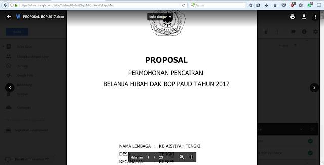 Contoh Proposal Pencairan Dana Bop Paud Tahun 2017 Sang Pencari Ilmu