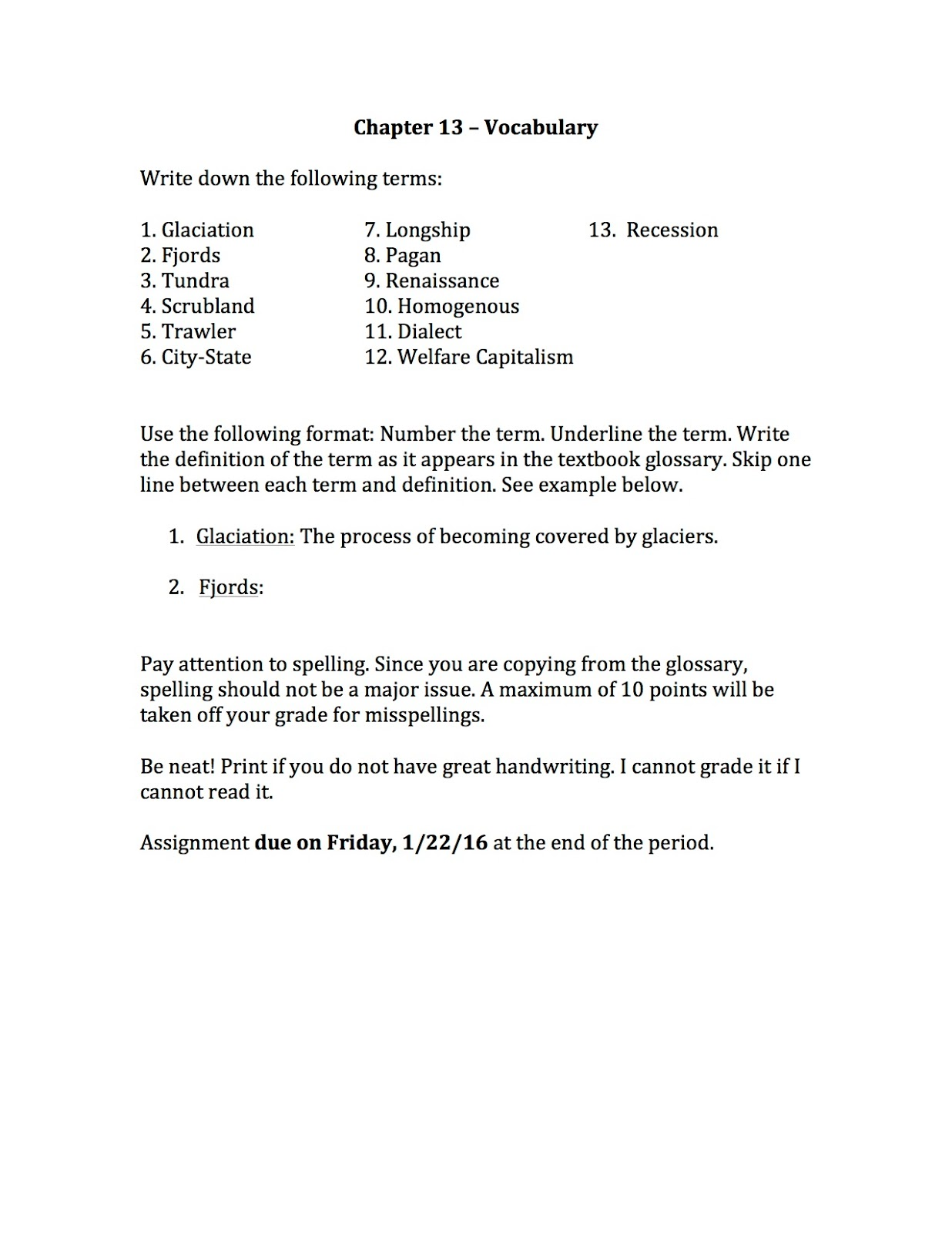 Worksheets Chapter 13 Worksheet ehms world cultures geography chapter 13 vocabulary assigned today we wrapped up lesson 1 from in the study guides i also for below are vocabul