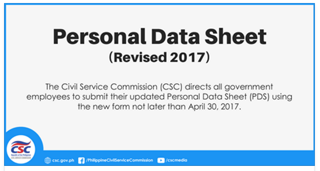 Corrected Copy Of 2017 Personal Data Sheet Pds Csc