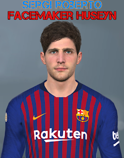 PES 2017 Faces Sergi Roberto by Huseyn
