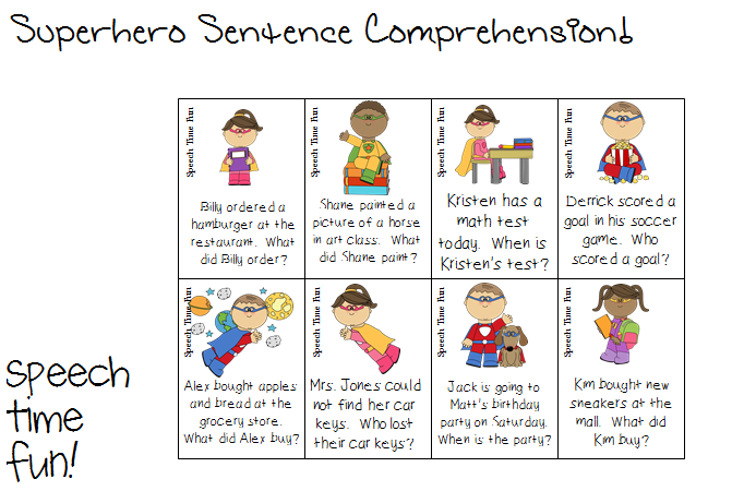 Printables Sentence Comprehension Worksheets printables sentence comprehension worksheets safarmediapps reading stories superhero grab this fun freebie that can be