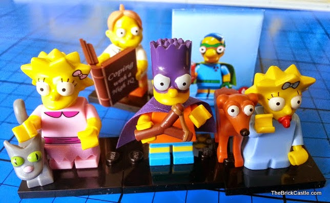 The Simpson's LEGO Minifigures Series 2 Bart Lisa Maggie Martin