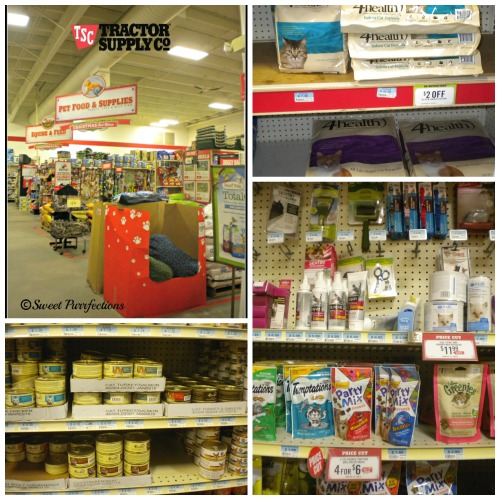 Tractor Supply Co collage with 4Health food and cat supplies  #TractorSupply