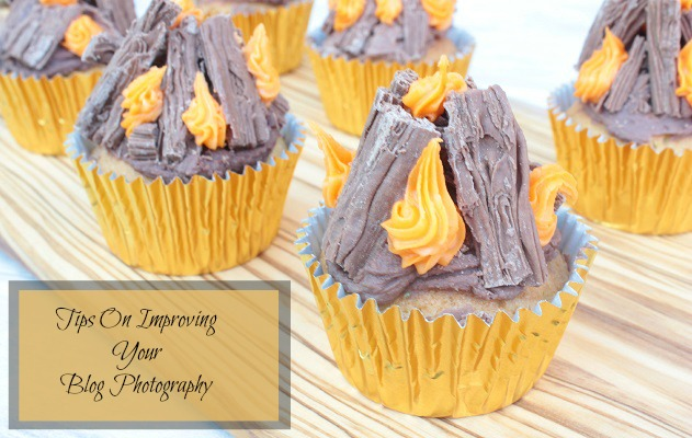 Improving Blog Photography: Bonfire Cupcakes