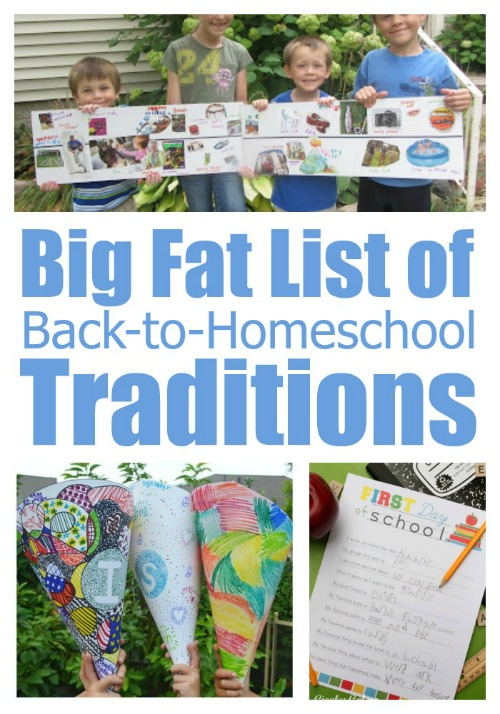 Big Fat List of Back-to-Homeschool Traditions
