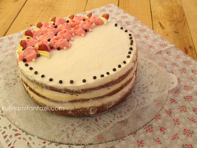 Торта с какаови блатове и маслен крем
