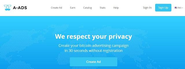 a-ads افضل شبكة اعلانية بديلة لادسنس