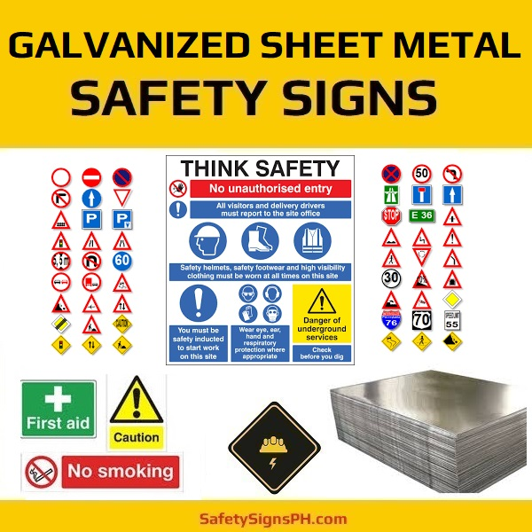 Galvanized Sheet Metal Safety Signs Philippines