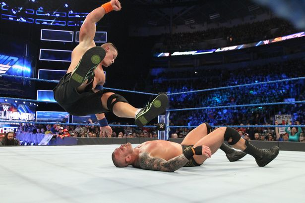 John Cena in action with Randy Orton (Photo: Handout)