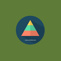 Egypt pyramid flat icon