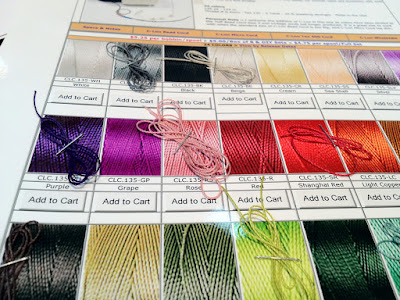 C-Lon Bead Cord Color Chart