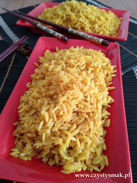 aromatyczny żółty ryż tańszy niż z szafranem
