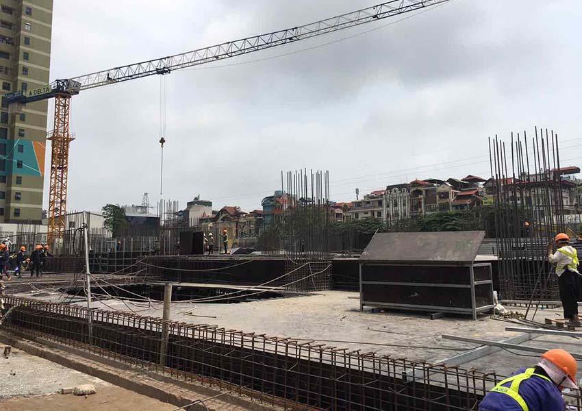 Tiến độ thi công dự án Sun Group Lương Yên ngày 3/5/2017