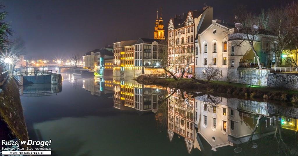 Opolska Wenecja - Młynówka nocą