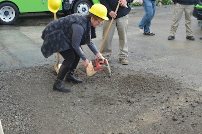 Brenda Breaking Ground
