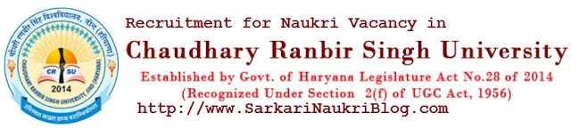 Sarkari Naukri Vacancy CRSU Jind Haryana
