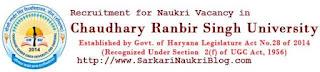 Naukri Vacancy Recruitment CRSU Jind Haryana