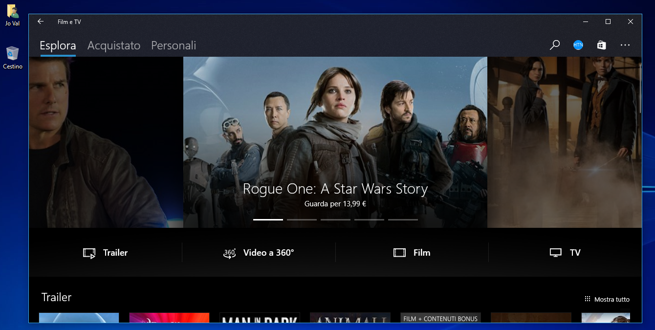Project Neon anche in Film e TV su Windows 10 Creators Update HTNovo