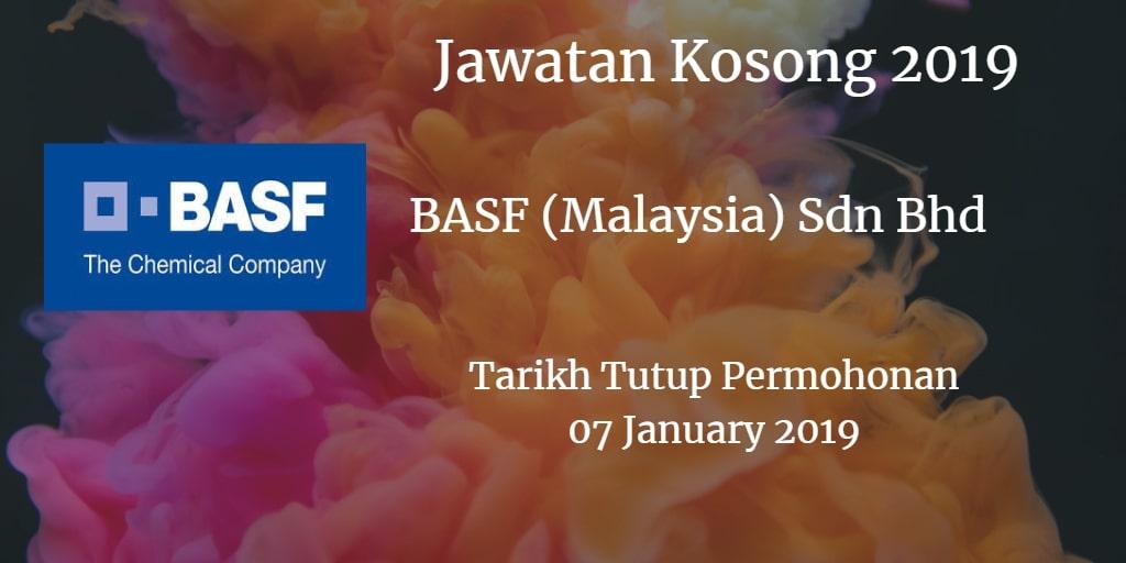 Jawatan Kosong BASF (Malaysia) Sdn Bhd 07 January 2019