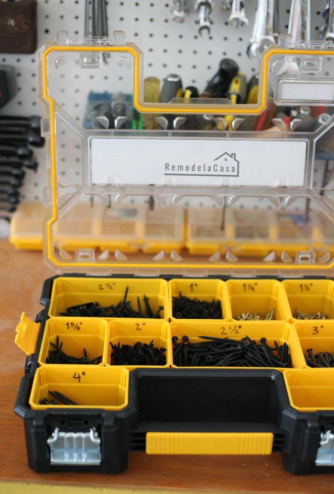 DeWalt storage compartments