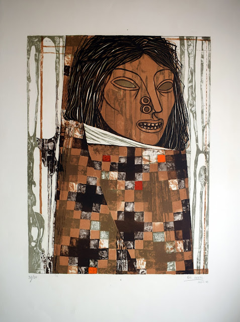 Gil Imaná pintura boliviana tradicional retrato