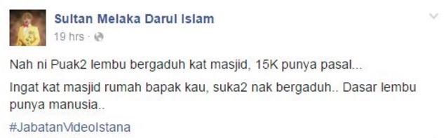Sultan Mengamuk Rakyat Bergaduh di Masjid Kerana Hantaran RM15,000