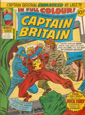 Marvel UK, Captain Britain #15, unmasked