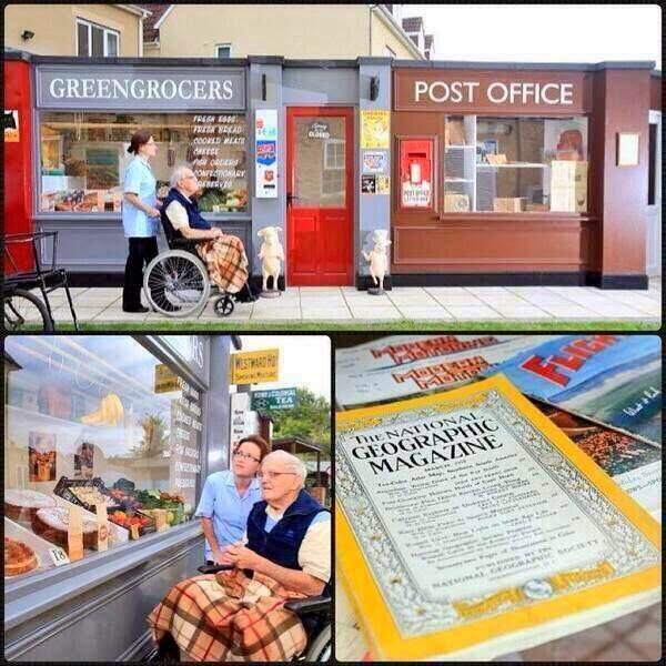 دار رعاية مسنّين بريطانية تبني شارعاً قديماً يعود لعام 1950 لكي تمنح مرضى الزهايمر شعوراً يسعدهم!