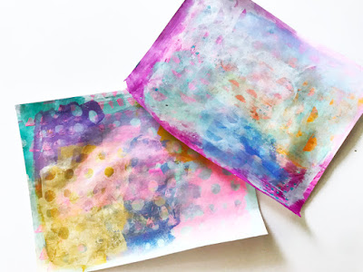 Rae Missigman: Painted Papers with StencilGirl® Stencils
