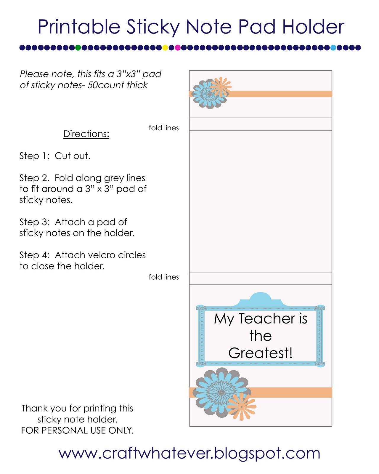 Teacher Appreciation Notepad Idea