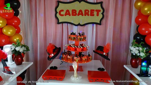 Mesa temática de aniversário Cabaré